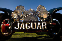 PEBBLE BEACH, CA - AUGUST 19: A 1939 SS Jaguar Roadster at the 2007 Pebble Beach Concours d'Elegance on August 19, 2007 in Pebble Beach, California.  (Photo by David Paul Morris)