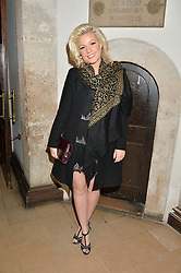 NATALIE COYLE at the fourth annual Fayre of St James's charity Christmas concert hosted by the Quintessentially Foundation and The Crown Estate in partnership with Deutsche Asset & Wealth Management held at  St James's Church, 197 Piccadilly, London followed by a party at Quaglino's 16 Bury Street, London on 24th November 2015.