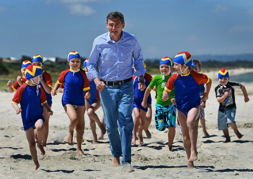 Premier John Brumby makes an announcement about funding for volunteers at Carrum Nippers from the Carrum LifeSaving Club - Pic By Craig Sillitoe 20/11/2010 melbourne photographers, commercial photographers, industrial photographers, corporate photographer, architectural photographers, This photograph can be used for non commercial uses with attribution. Credit: Craig Sillitoe Photography / http://www.csillitoe.com<br />