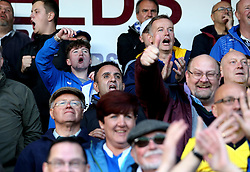 Bristol Rovers fans celebrate their teams win over Northampton Town - Mandatory by-line: Robbie Stephenson/JMP - 01/10/2016 - FOOTBALL - Sixfields Stadium - Northampton, England - Northampton Town v Bristol Rovers - Sky Bet League One