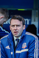 Dougie Freedman Manager of Bolton Wanderers before the Sky Bet Championship match at The Den, London<br /> Picture by David Horn/Focus Images Ltd +44 7545 970036<br /> 15/02/2014