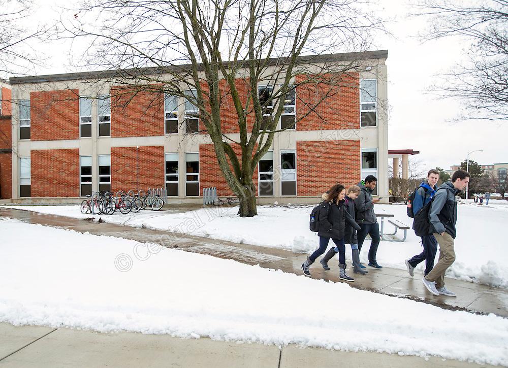 Winter scenics at Central Michigan University. Central Michigan University photos by Steve Jessmore