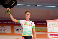 Amalie Dideriksen (Boels Dolmans) leads the points classification at the 103 km Stage 1 of the Boels Ladies Tour 2016 on 30th August 2016 in Tiel, Netherlands. (Photo by Sean Robinson/Velofocus).