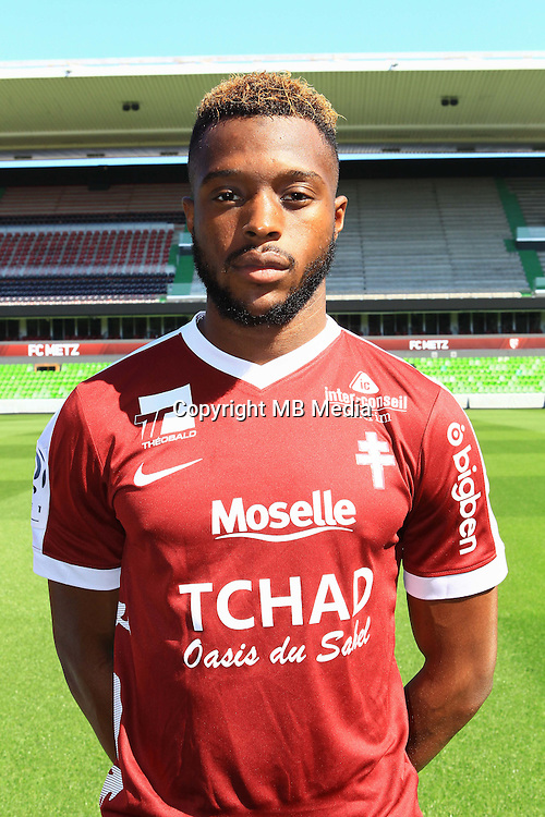 Cheick Doukoure poses for a portrait during the Metz squad photo call for the 2016-2017 Ligue 1 season on September 15, 2016 in Metz, France<br /> Photo : Fred Marvaux / Icon Sport