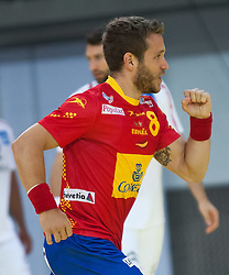 10.06.2015, Olympiahalle, Innsbruck, AUT, EHF Euro Qualifikation, Gruppe 7, Österreich vs Spanien, im Bild Victor Tomas Gonzalez (ESP) // during the EHF Euro Qualifikation group 7 match between Austria and Spain at Olympiahalle, Innsbruck, Austria on 2015/06/10. EXPA Pictures © 2015, PhotoCredit: EXPA/ Jakob Gruber