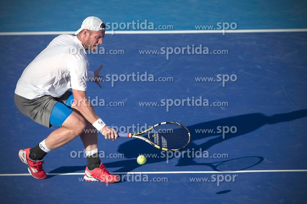 Australia's Sam Groth returns the ball during the men's single match against Ukraine's Alexandre Dolgopolov at the Abierto Mexicano Telcel tennis tournament in Acapulco, Guerrero, Mexico, Feb. 23, 2015. Groth lost 1-2. EXPA Pictures &copy; 2015, PhotoCredit: EXPA/ Photoshot/ Alejandro Ayala<br /> <br /> *****ATTENTION - for AUT, SLO, CRO, SRB, BIH, MAZ only*****
