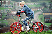 Neville on His BMX, High Wycombe, UK, 1980s.