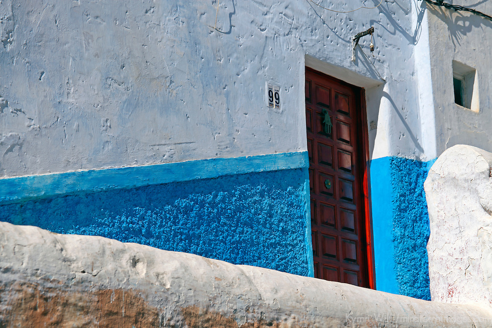 Africa, Morocco, Rabat. A residence in Kasbah Oudaya, the old city of Rabat.