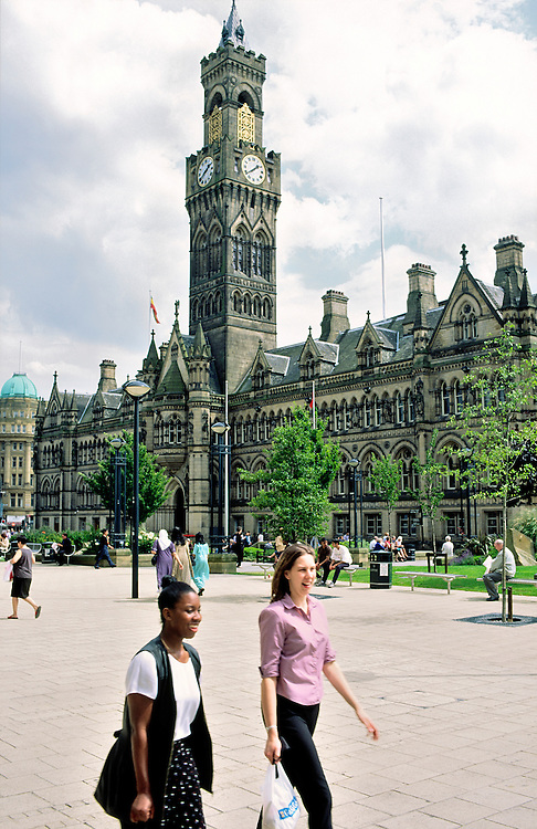 The City Hall, Bradford, in West Yorkshire, England.