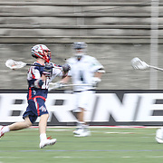 Jack Rice #16 of the Boston Cannons runs with the ball during the game at Harvard Stadium on April 27, 2014 in Boston, Massachusetts. (Photo by Elan Kawesch)
