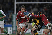 Wycombe, GREAT BRITAIN, James HASKELL caught with the ball, during the Heineken Cup game Wasps vs Llanelli Scarlets, at Adams Park Stadium, Bucks, 13.01.2008 [Photo, Peter Spurrier/Intersport-images]