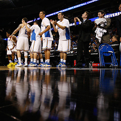 Mar 17, 2011; Tampa, FL, USA; The  UCLA Bruins bench reacts during the second half of the second round of the 2011 NCAA men's basketball tournament against the Michigan State Spartans at the St. Pete Times Forum. UCLA defeated Michigan State 78-76.  Mandatory Credit: Derick E. Hingle