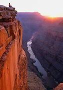 Sunrise on Toroweap Point, a remote part of the Grand Canyon, Arizona