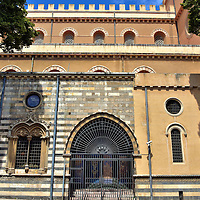 """Tesoro del Duomo in Messina, Italy<br /> In 2000, a museum opened in the atrium on the south side of the Cathedral of Messina called the Treasure of the Cathedral.  In four rooms of the Tesoro del Duomo you'll find over 400 works of art and artifacts dating back to the 10th century.  One room is dedicated to the Madonna of the Letter. The centerpiece is the """"Manta Gold."""" It is an exquisite sculpture of a faceless Virgin Mary holding the Christ child. The masterpiece was created in 1668 by Innocenzo Mangani."""