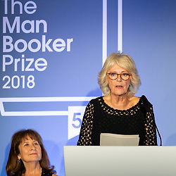 Her Royal Highness Camilla the Duchess of Cornwall at the Man Booker Prize dinner at the Guildhall in London. Guildhall, London, October 16 2018.