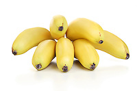 Bunch of bananas at white background