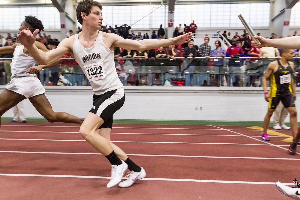 Boston University John Terrier Classic Indoor Track & Field: 4x400 relay, Brown