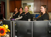 LRGHealthcare Mothers' Milk Dispensary staff ready to give tours of their facility during Wednesday evenings open house.  (Karen Bobotas/for the Laconia Daily Sun)