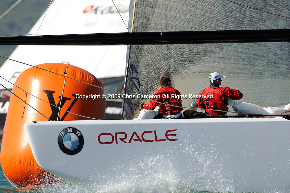 China Team beats K Challenge in their last race of Round Robin two. Louis Vuitton Pacific Series. 7/2/2009