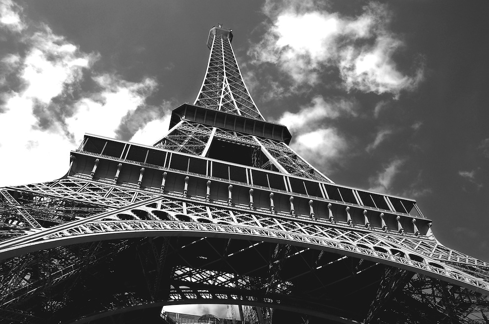 The Eiffel Tower was built in 1889 for the entrance to the 1889 World's Fair.  The tower is the most visited paid monument in the world.
