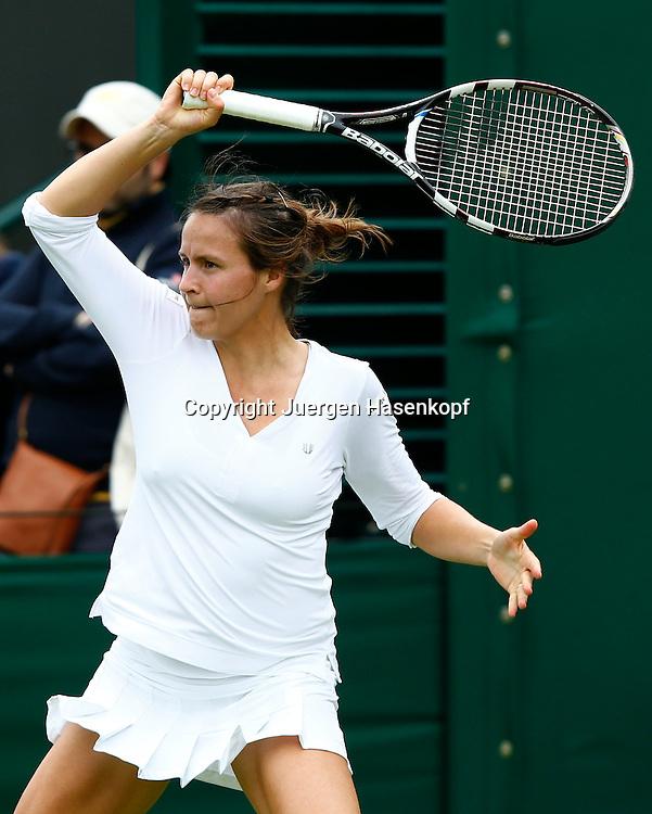 Wimbledon Championships 2013, AELTC,London,<br /> ITF Grand Slam Tennis Tournament, Tatjana Maria(GER),Aktion,Einzelbild,<br /> Halbkoerper,Hochformat,