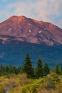 Mount Shasta volcano at sunset, Cascade Range, Siskiyou County, California