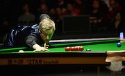 19.02.2016. Cardiff Arena, Cardiff, Wales. Bet Victor Welsh Open Snooker. Neil Robertson versus Ding Junhui. Neil Robertson pots the black.