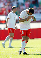 CHORZOW 01/06/2008.POLAND v DENMARK.INTERNATIONAL FRIENDLY.A DEJECTED MACIEJ ZURAWSKI OF POLAND AFTER HE MISSED HIS PENALTY ..FOT. PIOTR HAWALEJ / WROFOTO