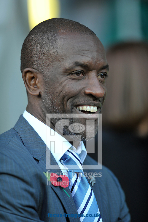 Chris Powell manager of Huddersfield Town during the Sky Bet Championship match at the John Smiths Stadium, Huddersfield against Nottingham Forest<br /> Picture by Graham Crowther/Focus Images Ltd +44 7763 140036<br /> 01/11/2014