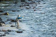 Dejon Hamann enjoys fly fishing the Frying Pan River near Basalt, Colorado.