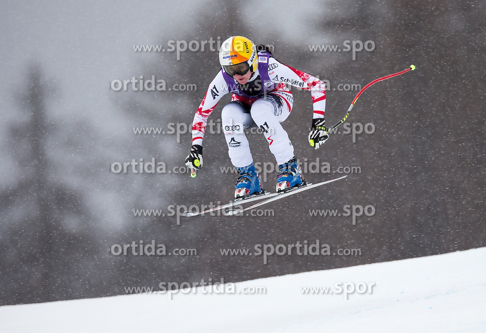 16.01.2015, Olympia delle Tofane, Cortina d Ampezzo, ITA, FIS Weltcup Ski Alpin, Abfahrt, Damen, im Bild Cornelia Huetter (AUT) // Cornelia Huetter of Austria in action during the ladies Downhill of the Cortina FIS Ski Alpine World Cup at the Olympia delle Tofane course in Cortina d Ampezzo, Italy on 2015/01/16. EXPA Pictures © 2015, PhotoCredit: EXPA/ Johann Groder