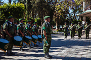 Tecamachalco, Mexico – March 27, 2017: Soldiers of Mexican Army will patrol the six municipalities located into the Red Triangle (Tepeaca, Palmar de Bravo, Quecholaco, Acatzingo, Acajete and Tecamachalco) for the gasoline theft from the pipelines of Petroleos Mexicanos (PEMEX).