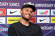 Andre De Grasse (CAN) at a press conference prior to the London Anniversary Games, Friday, July 19, 2019, in London, United Kingdom.