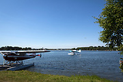 Lake Spendard, Anchorage, AK, USA<br /> <br /> View from the restaurant &quot;The Deck at Lake Hood&quot;, The Lakefront Hotel<br /> Photographer: Christina Sjogren<br /> <br /> Copyright 2018, All Rights Reserved