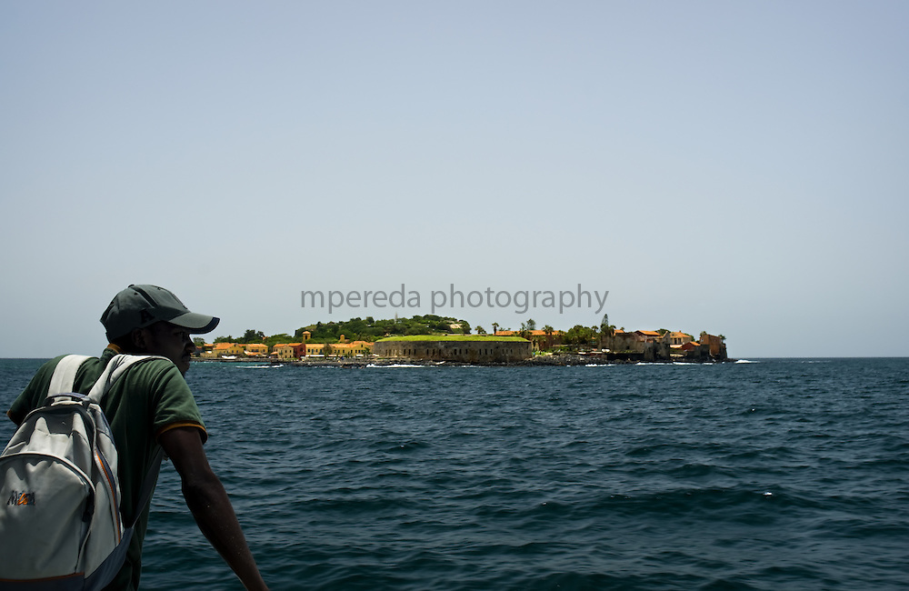GOREÉ ISLAND (Senegal). 2007.  View of the island of Goree from the ferry which connects with the Dakar