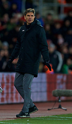 SOUTHAMPTON, ENGLAND - Sunday, February 11, 2018: Southampton's manager Mauricio Pellegrino during the FA Premier League match between Southampton FC and Liverpool FC at St. Mary's Stadium. (Pic by David Rawcliffe/Propaganda)
