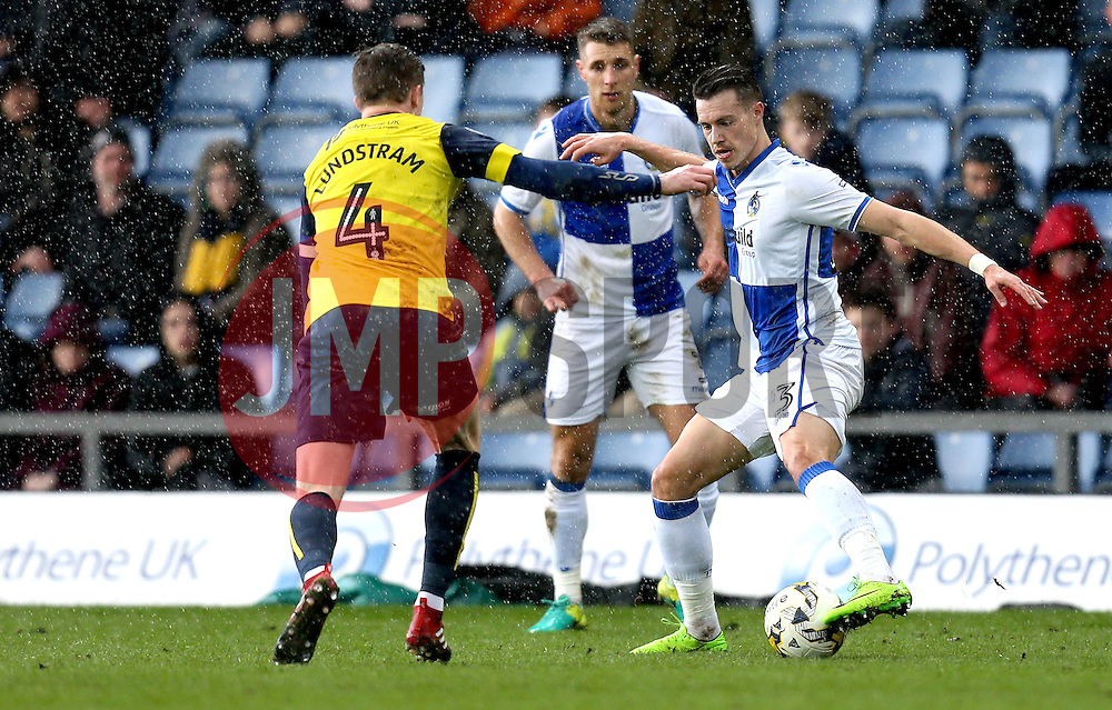 Billy Bodin of Bristol Rovers controls the ball - Mandatory by-line: Robbie Stephenson/JMP - 04/03/2017 - FOOTBALL - Kassam Stadium - Oxford, England - Oxford United v Bristol Rovers - Sky Bet League One