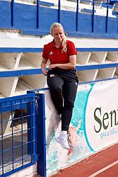 MARBELLA, SPAIN - Tuesday, March 5, 2019: Wales' Nadia Lawrence after an international friendly match between Wales and Republic of Ireland at the Estadio Municipal de Marbella. (Pic by David Rawcliffe/Propaganda)