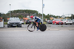 Clara Koppenburg (GER) of Cervélo-Bigla Cycling Team starts the prologue of the Ladies Tour of Norway - a 3.4 km time trial, starting and finishing in Halden on August 17, 2017, in Ostfold, Norway. (Photo by Balint Hamvas/Velofocus.com)