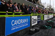 Candriam ad board during the EFL Sky Bet League 2 match between Forest Green Rovers and Notts County at the New Lawn, Forest Green, United Kingdom on 9 February 2019.