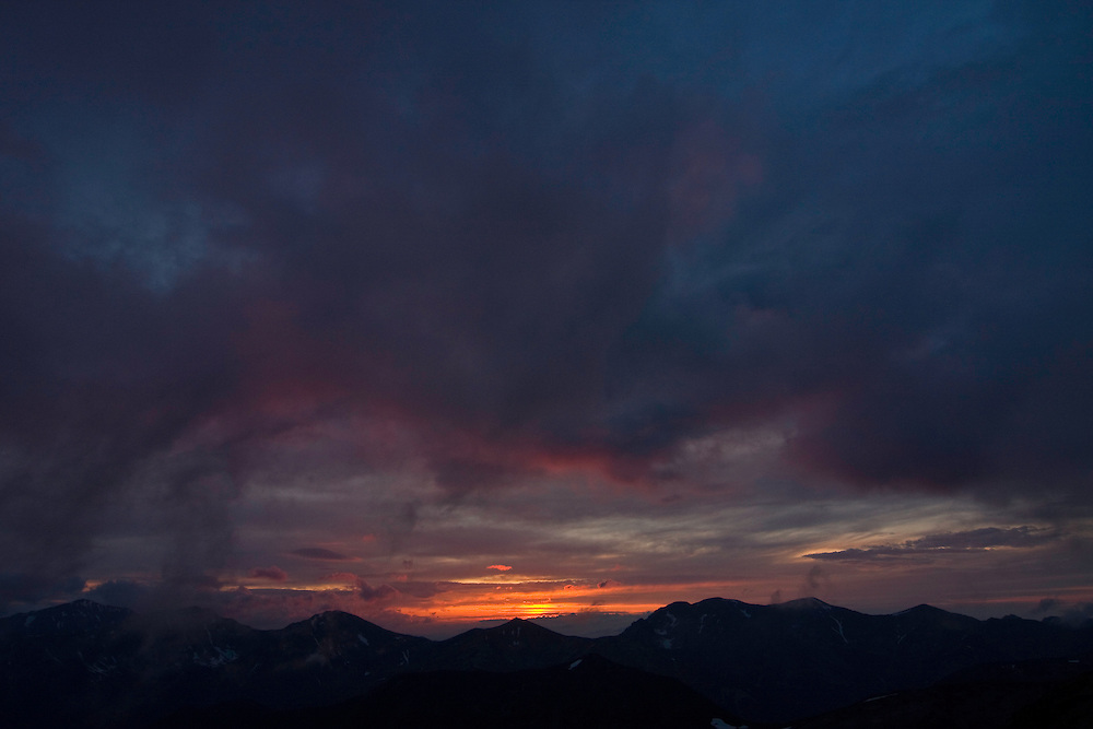 Sunset above Mount Pol'skà Tomanovà (1977 m asl) in the Western Tatras, Slovakia. June 2009. Mission: Ticha