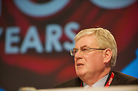 Eamon Gilmore  at the Labour conference in the Bailey hall in NUIG Photo:Andrew Downes