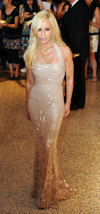 Donatella Versace arrives for the White House Correspondents Dinner in Washington, DC