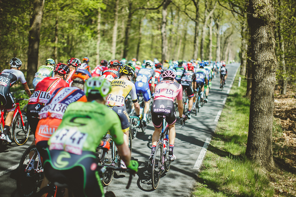The opening road stage in the Gelderland region was filled with bucolic tree-lined roads for the riders. Photo: Jim Fryer / BrakeThrough Media | brakethroughmedia.com