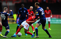 Han-Noah Massengo of Bristol City under pressure from Jon Gorenc Stankovic of Huddersfield Town- Mandatory by-line: Nizaam Jones/JMP - 30/11/2019 - FOOTBALL - Ashton Gate - Bristol, England - Bristol City v Huddersfield Town - Sky Bet Championship