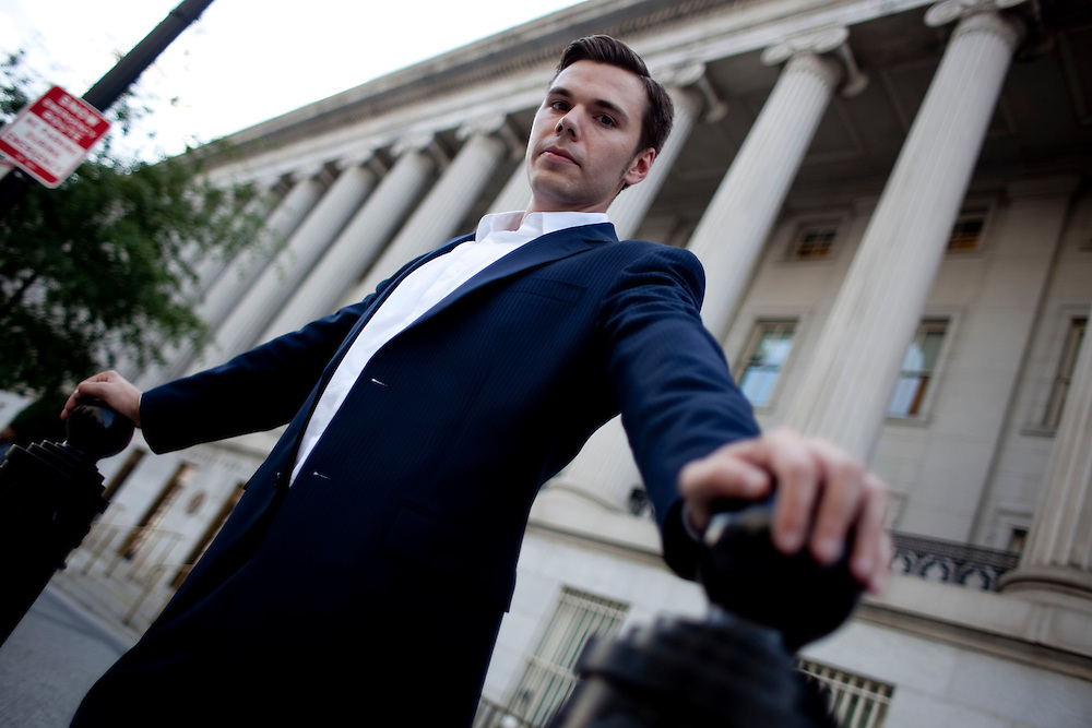 Dusty Riddle, a 2009 MBA graduate of the University of Rocherster, in Washington DC where he works for the Department of Commerce on Thursday, July 22, 1020.
