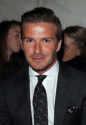 David Beckham at the  Victoria Beckham  show at New York Fashion Week AW 2012, Sunday , February 12th 2012.  Photo by: Stephen Lock / i-Images