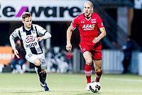 ALMELO - 14-04-2017, Heracles  Almelo - AZ, AFAS Stadion, Heracles Almelo speler Reuven Niemeijer, AZ speler Ron Vlaar