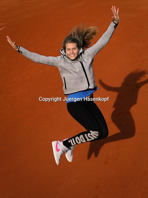 Tennis Profi Antonia Lottner (GER),Iphitos Tennis Club, Sandplatz, Muenchen,