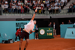 May 6, 2019 - Madrid, Spain - Successful start for  Juan Martin Del Potro (ARG) in doubles in his match against Fognini (ITA)  and Robert Lindstedt (SWE) during day three of the Mutua Madrid Open at La Caja Magica in Madrid on 6th May, 2019. (Credit Image: © Juan Carlos Lucas/NurPhoto via ZUMA Press)
